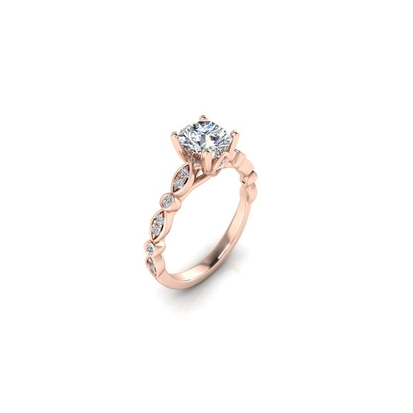 Reese geometric engagement ring - pink - Try on at home FREE Image 2 Robert Irwin Jewelers Memphis, TN