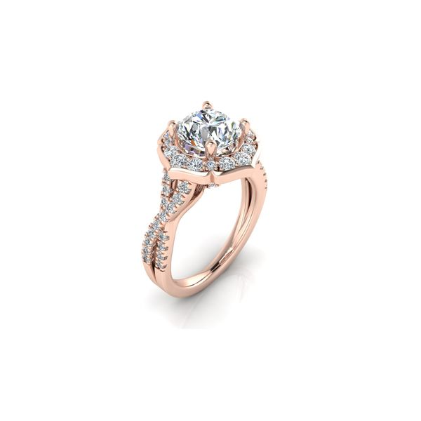 Sofia infinity twist floral halo engagement ring - pink - Try on at Home FREE Image 2 Robert Irwin Jewelers Memphis, TN