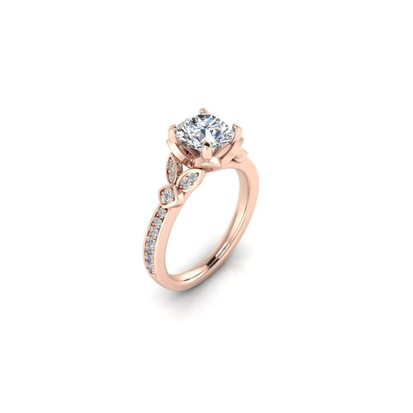 Jenna floral style engagement ring - pink - Try on at home FREE Image 2 Robert Irwin Jewelers Memphis, TN