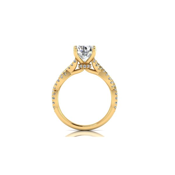 Lizzo infinity twist engagement ring - yellow - Try on at home FREE Image 3 Robert Irwin Jewelers Memphis, TN