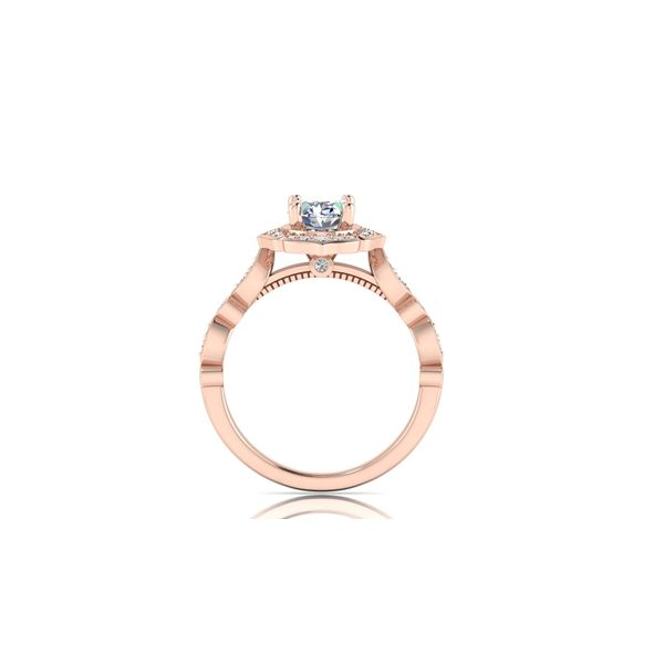 Angelina floral halo engagement ring - pink - Try on at home FREE Image 3 Robert Irwin Jewelers Memphis, TN