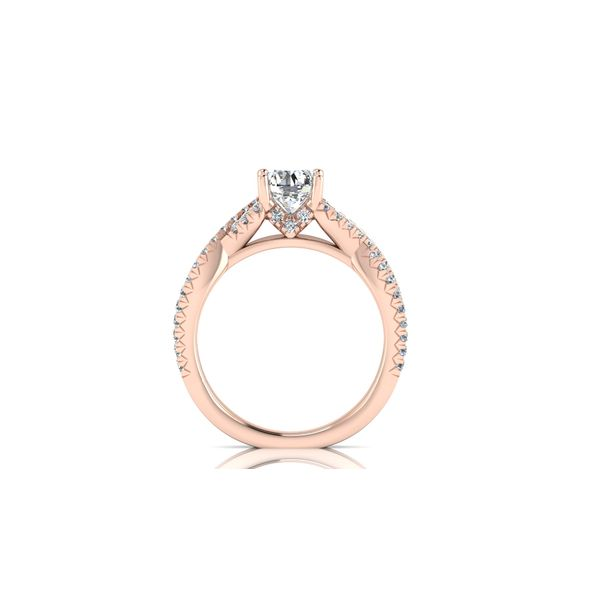 Laila infinity twist pave' engagement ring - pink - Try on at home FREE Image 3 Robert Irwin Jewelers Memphis, TN