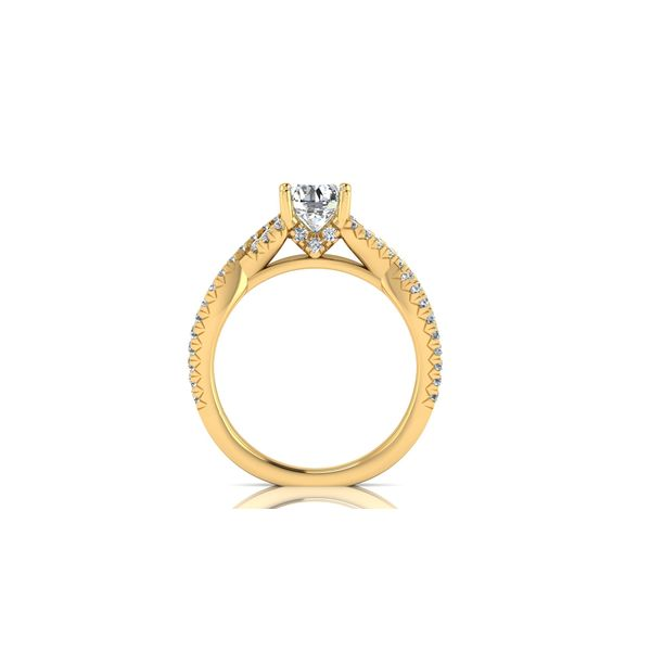 Laila infinity twist pave' engagement ring - yellow - Try on at home FREE Image 3 Robert Irwin Jewelers Memphis, TN