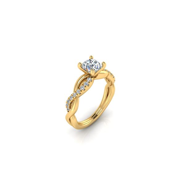 Infinity twist engagement ring - yellow - Try on at home FREE Image 2 Robert Irwin Jewelers Memphis, TN