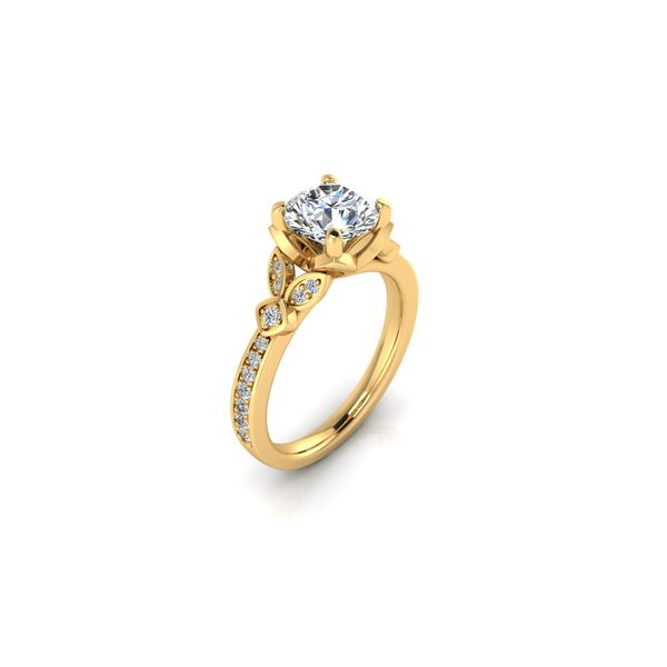 Jenna floral style engagement ring - yellow - Try on at home FREE Image 2 Robert Irwin Jewelers Memphis, TN