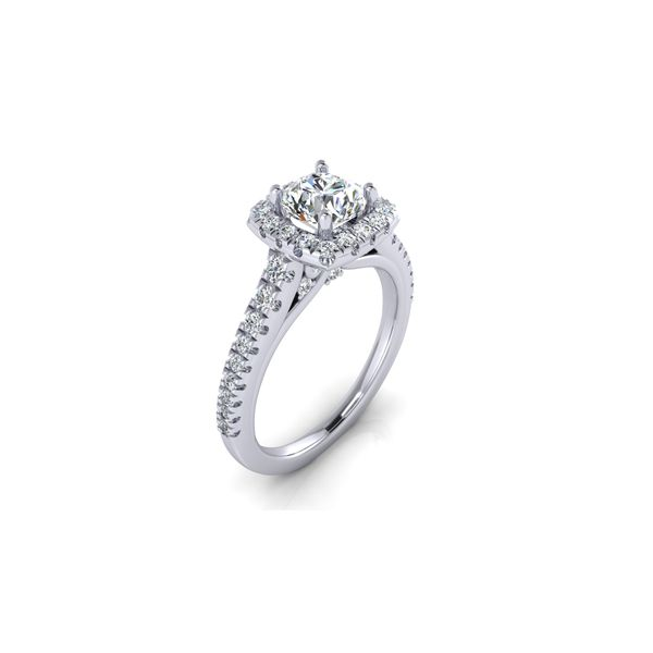 Selena square halo ring - Try on at home FREE Image 2 Robert Irwin Jewelers Memphis, TN