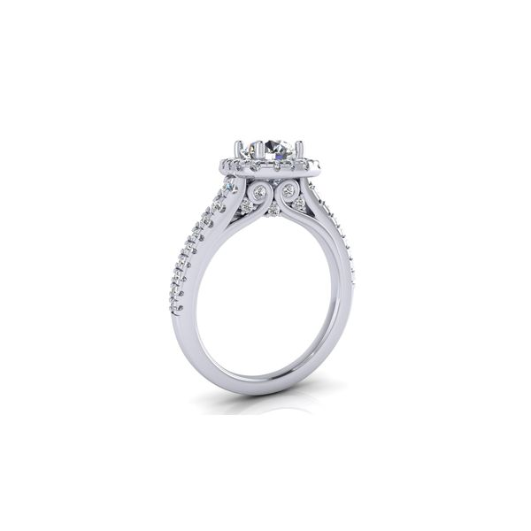Selena square halo ring - Try on at home FREE Image 3 Robert Irwin Jewelers Memphis, TN