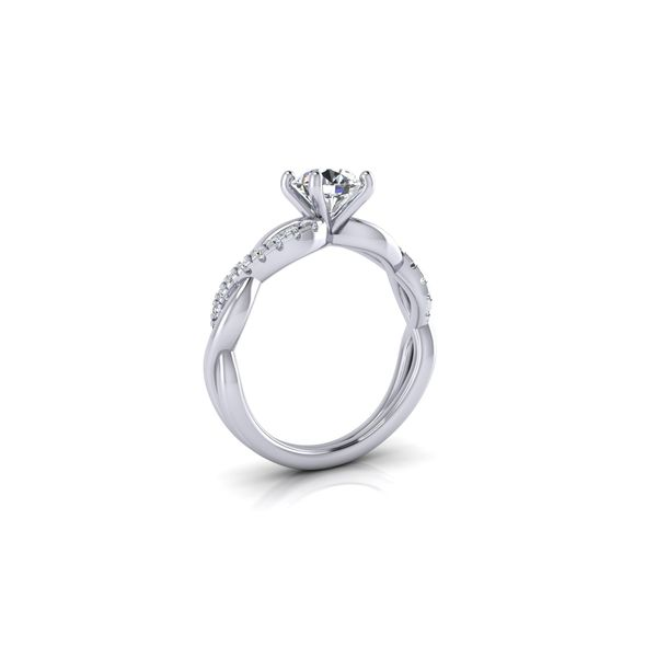Infinity twist engagement ring - Try on at home FREE Image 2 Robert Irwin Jewelers Memphis, TN
