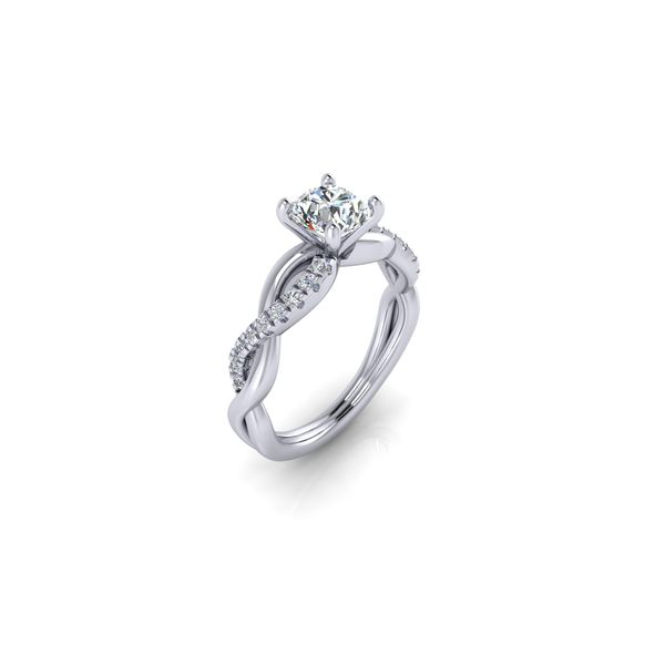 Infinity twist engagement ring - Try on at home FREE Image 3 Robert Irwin Jewelers Memphis, TN