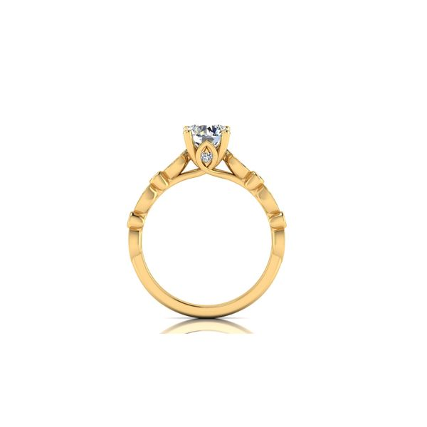 Reese geometric engagement ring - yellow - Try on at home FREE Image 3 Robert Irwin Jewelers Memphis, TN