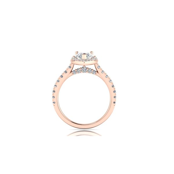 Tiara pear shaped halo engagement ring - pink - Try on at Home FREE Image 3 Robert Irwin Jewelers Memphis, TN