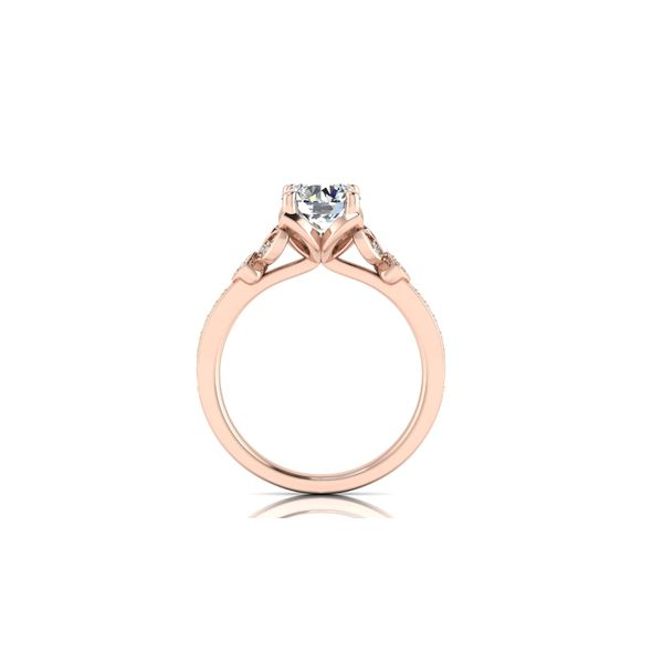Jenna floral style engagement ring - pink - Try on at home FREE Image 3 Robert Irwin Jewelers Memphis, TN