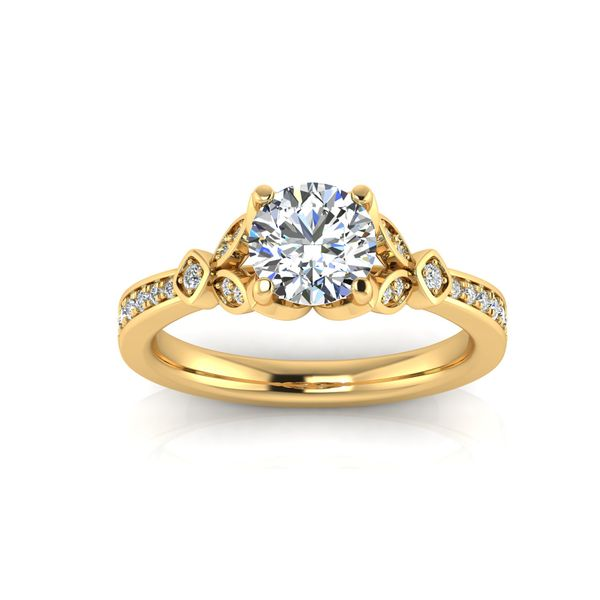 Jenna floral style engagement ring - yellow - Try on at home FREE Robert Irwin Jewelers Memphis, TN