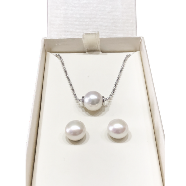 Sterling Silver 5mm Honora Pearl Gift Set Robert Irwin Jewelers Memphis, TN