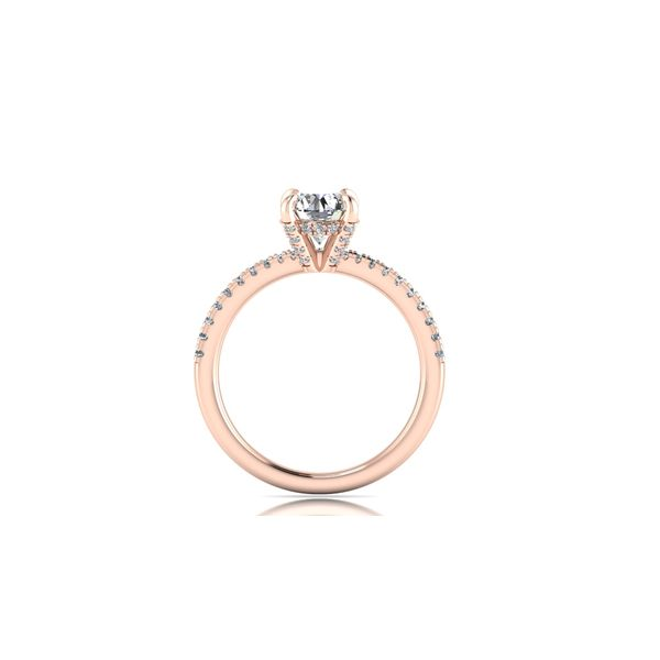 Shared prong diamond engagement ring - pink - Try on at home FREE Image 3 Robert Irwin Jewelers Memphis, TN