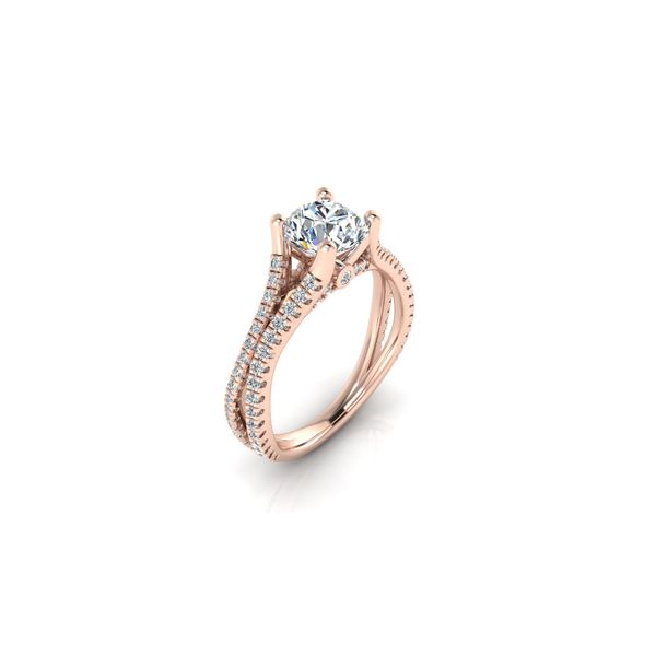Addison split shank engagement ring - pink - Try on at home FREE Image 2 Robert Irwin Jewelers Memphis, TN