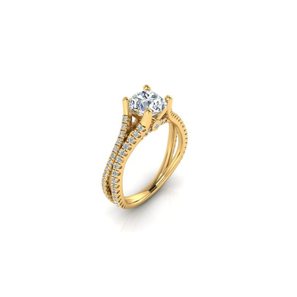 Addison split shank engagement Ring - yellow - Try on at home FREE Image 2 Robert Irwin Jewelers Memphis, TN