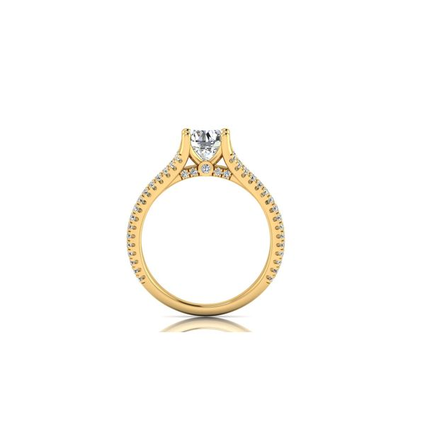 Addison split shank engagement Ring - yellow - Try on at home FREE Image 3 Robert Irwin Jewelers Memphis, TN
