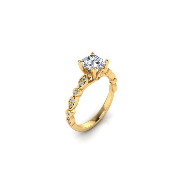 Reese geometric engagement ring - yellow - Try on at home FREE Image 2 Robert Irwin Jewelers Memphis, TN