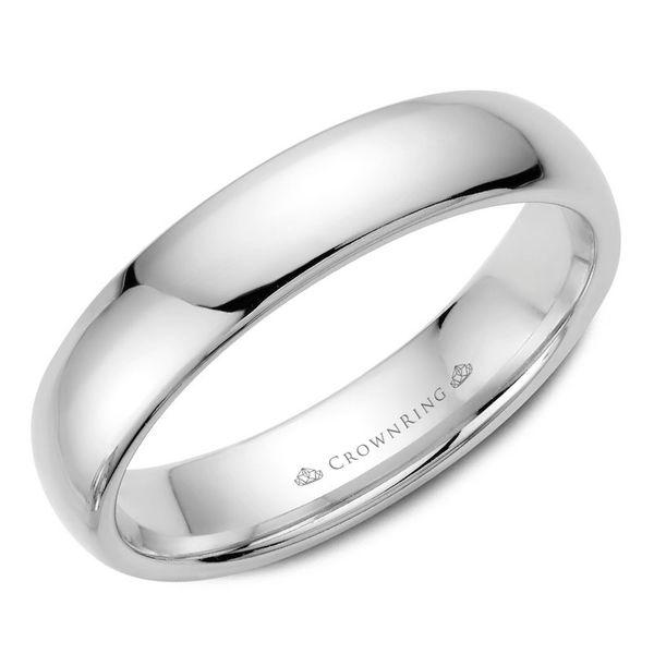 CrownRing 14k White Gold 5mm Classic Wedding Band Robert Irwin Jewelers Memphis, TN