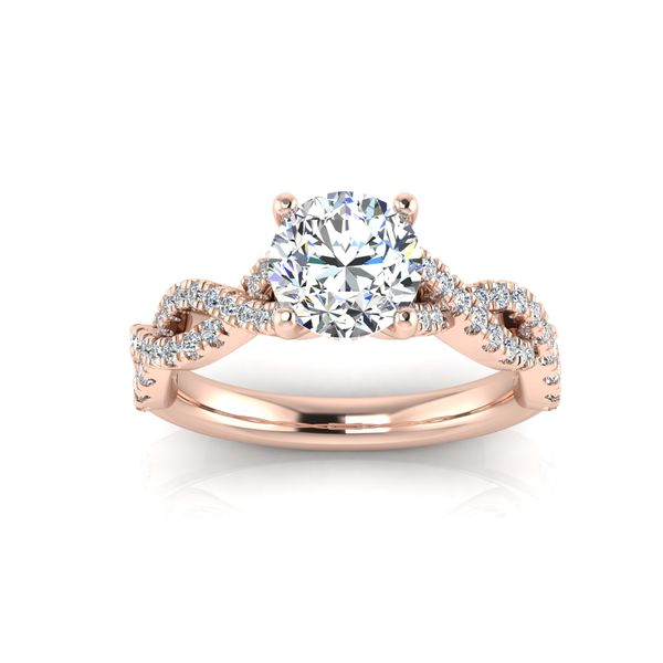Lizzo infinity twist engagement ring - pink - Try on at home FREE Robert Irwin Jewelers Memphis, TN