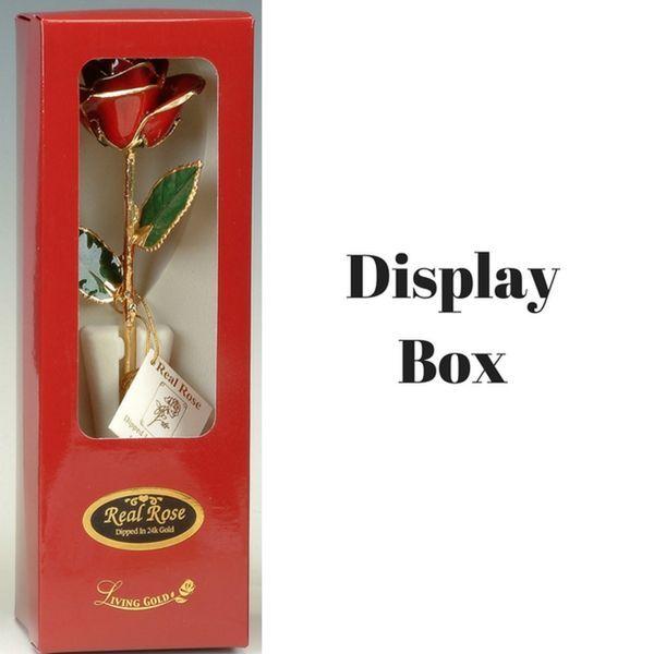 Dark Green 24k Gold Dipped Rose Image 2 Robert Irwin Jewelers Memphis, TN