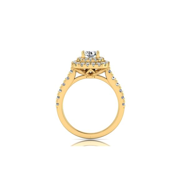 Nia double halo engagement ring - yellow - Try on at home FREE Image 3 Robert Irwin Jewelers Memphis, TN