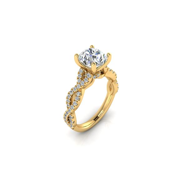 Lizzo infinity twist engagement ring - yellow - Try on at home FREE Image 2 Robert Irwin Jewelers Memphis, TN