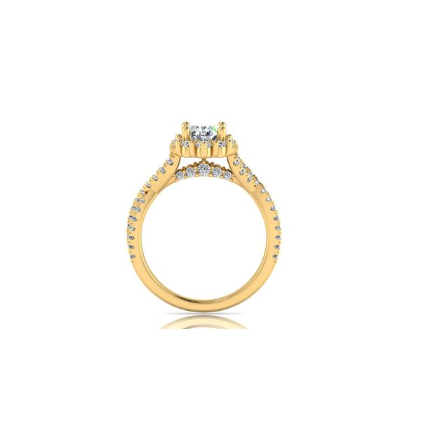 Taylor infinity twist oval halo engagement ring - yellow - Try on at Home FREE Image 3 Robert Irwin Jewelers Memphis, TN
