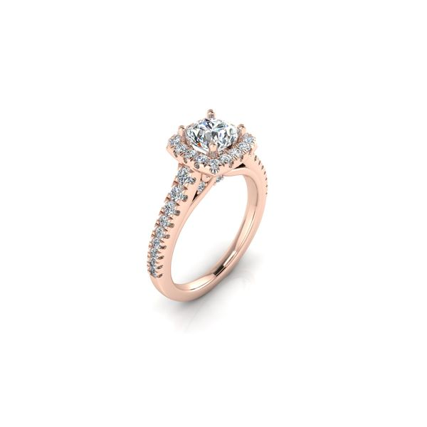 Selena square halo ring - pink - Try on at home FREE Image 2 Robert Irwin Jewelers Memphis, TN