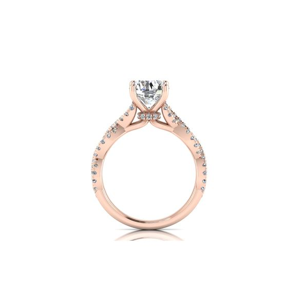 Lizzo infinity twist engagement ring - pink - Try on at home FREE Image 3 Robert Irwin Jewelers Memphis, TN
