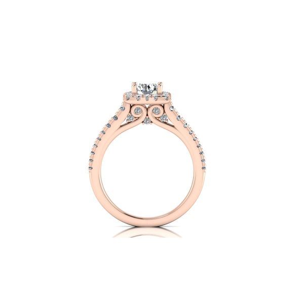 Selena square halo ring - pink - Try on at home FREE Image 3 Robert Irwin Jewelers Memphis, TN