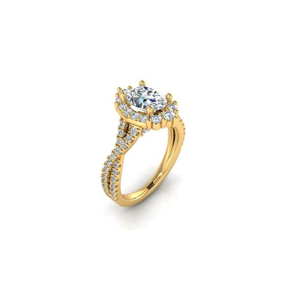 Taylor infinity twist oval halo engagement ring - yellow - Try on at Home FREE Image 2 Robert Irwin Jewelers Memphis, TN