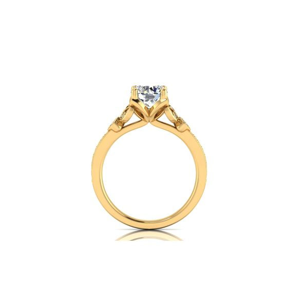 Jenna floral style engagement ring - yellow - Try on at home FREE Image 3 Robert Irwin Jewelers Memphis, TN