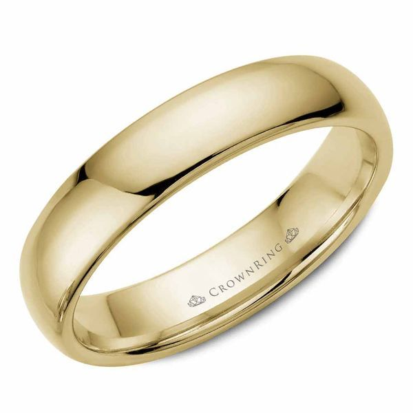 CrownRing 14k Yellow Gold 5mm Classic Wedding Band Robert Irwin Jewelers Memphis, TN