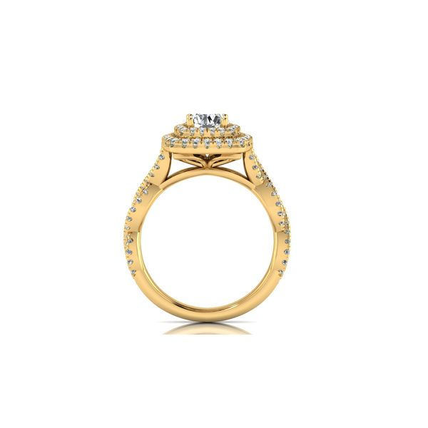 Infinity twist double halo engagement ring - yellow - Try on at home FREE Image 3 Robert Irwin Jewelers Memphis, TN