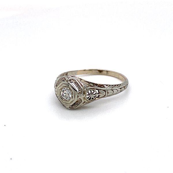 18kt Art Deco diamond ring Roberts Jewelers Meadville, PA