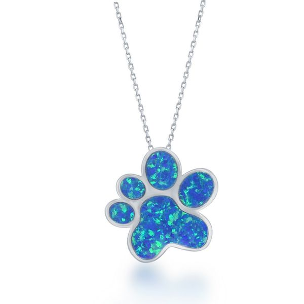 Sterling paw with inlaid opal Roberts Jewelers Meadville, PA