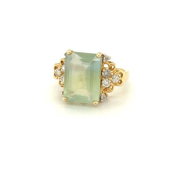 prehnite diamond fancy ring Roberts Jewelers Meadville, PA