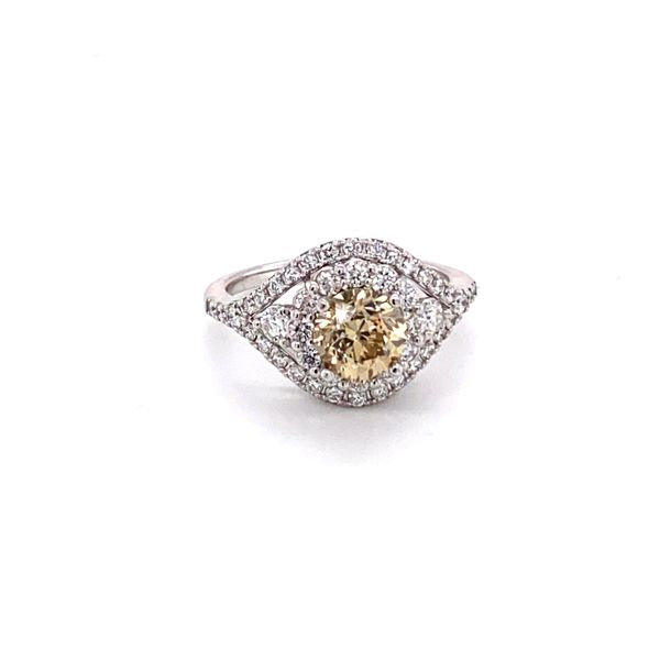 ladies 2.05 carat tw champagne diamond ring Roberts Jewelers Meadville, PA