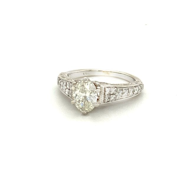 one carat oval diamond ring Roberts Jewelers Meadville, PA
