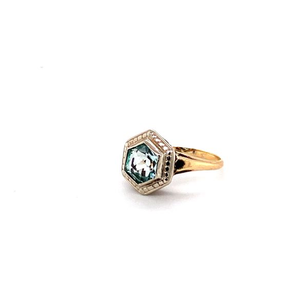 ladies 10kt hexagon march birthstone Roberts Jewelers Meadville, PA