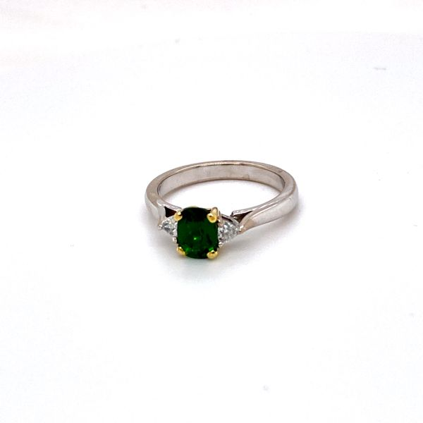 tsavorite diamond ring Roberts Jewelers Meadville, PA