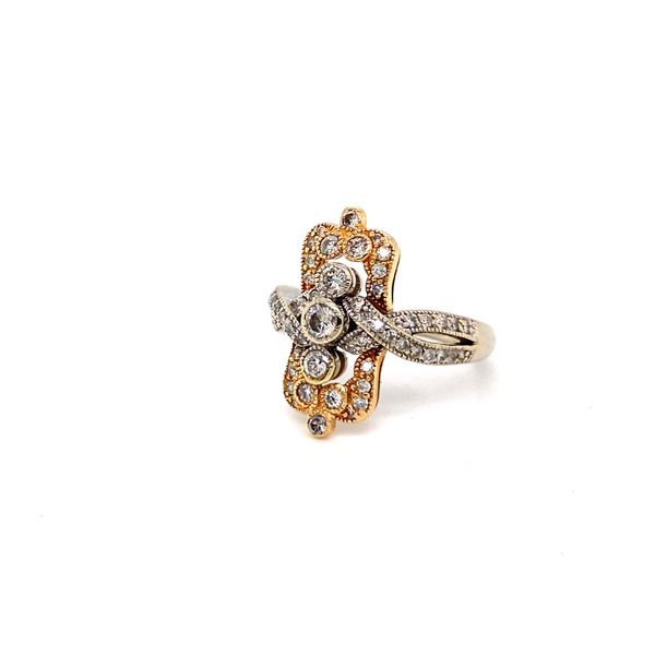 ladies two tone diamond ring Roberts Jewelers Meadville, PA