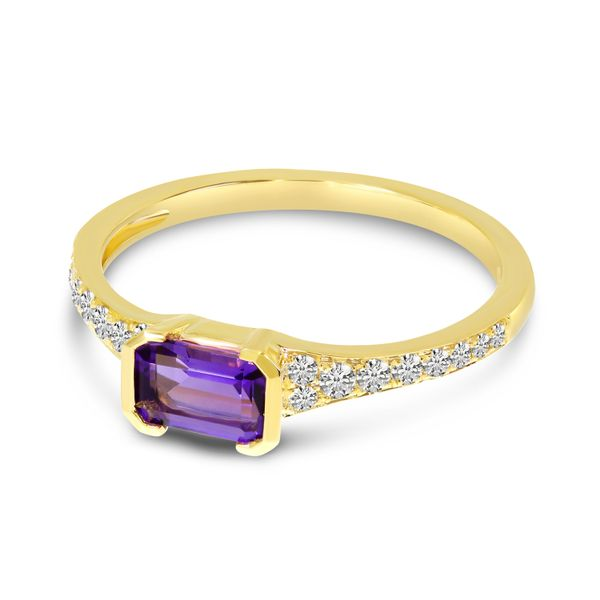 Amethyst and Diamond Ring Image 2 Score's Jewelers Anderson, SC