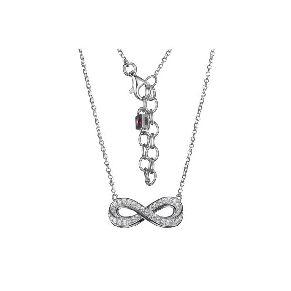 Sterling Silver Infinity Necklace Score's Jewelers Anderson, SC