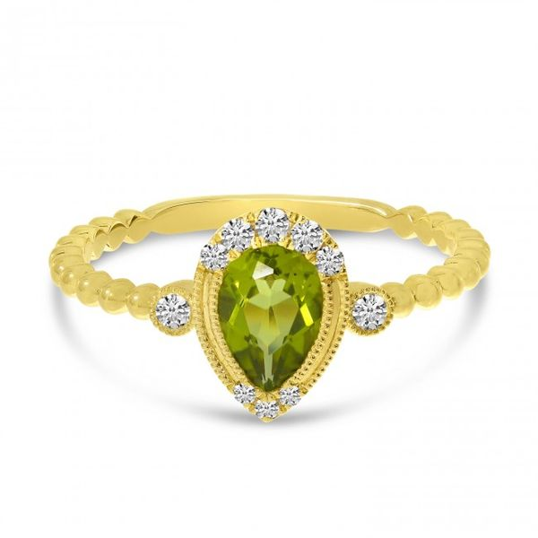 Peridot and Diamond Ring Score's Jewelers Anderson, SC