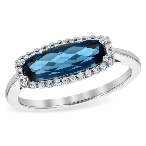 Blue Topaz and Diamond Ring Score's Jewelers Anderson, SC