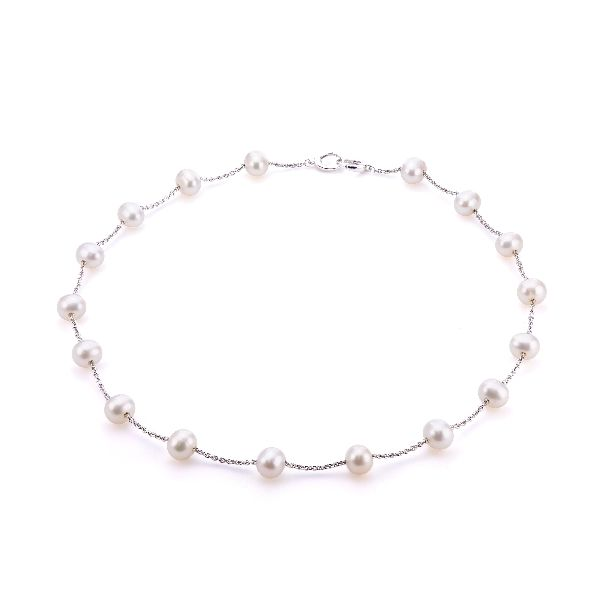 Sterling Silver Freshwater Pearl Necklace Score's Jewelers Anderson, SC