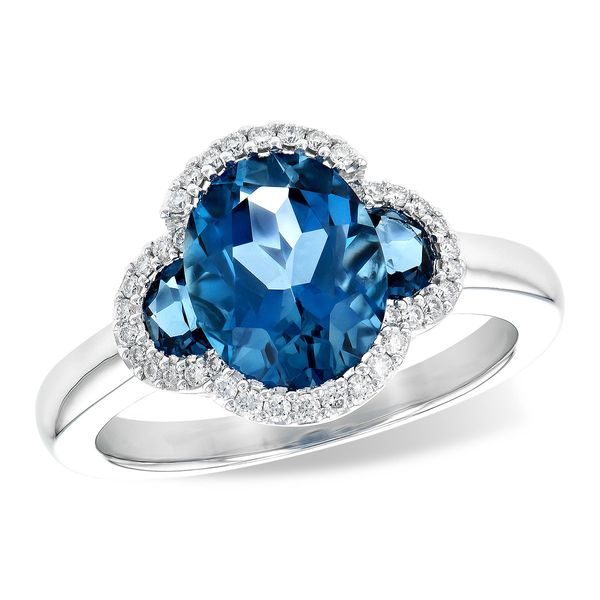 London Blue Topaz and Diamond Ring Score's Jewelers Anderson, SC